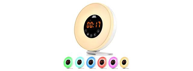 Adoric Wake- Up Light, Alarm Clock 7 Colored Sunrise Simulation & Sleep Aid Feature