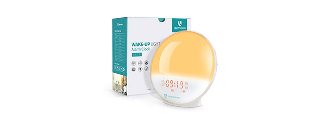 HeimVision Sunrise Alarm Clock, Smart Wake up Light Sleep Aid Digital Alarm Clock with Sunset Simulation and FM Radio