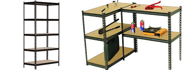 King's Rack 5 Layer Black Steel Storage Rack Boltless Shelving Unit Tier Layer Height Adjustable Shelf Organizer